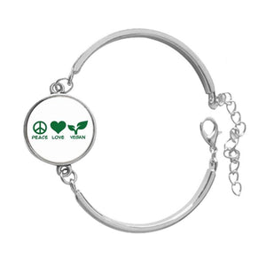 Bracelet Peace Love Vegan