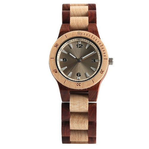 Montre bambou Double Mystery