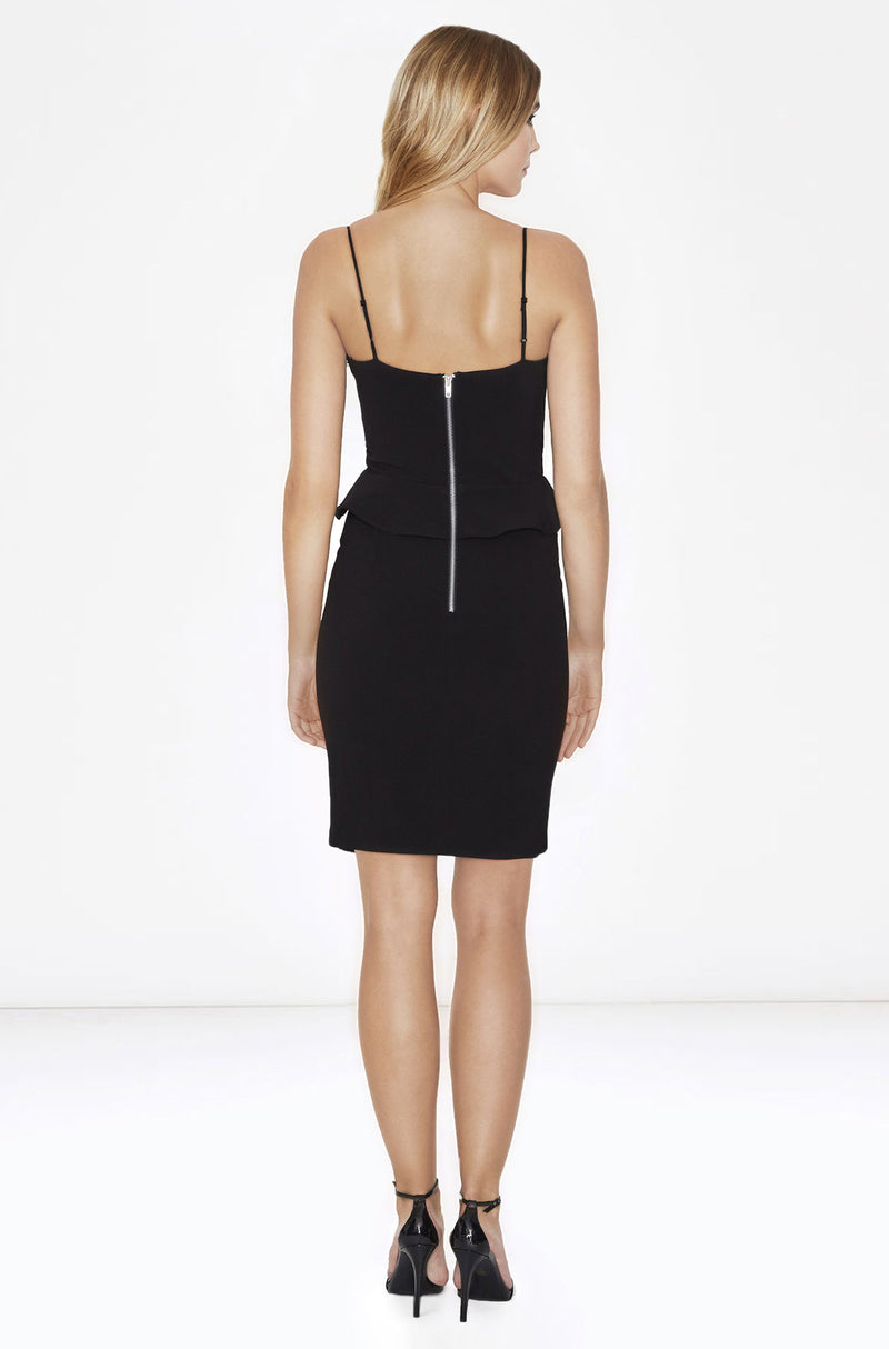 Parker NY Sachi Combo Dress in Black