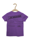 Peek-a-Zoo Panda Bear Tee in Purple Heather