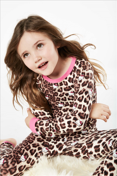 Bed Head L/S 2 Piece PJ Hello Kitty Animal Print