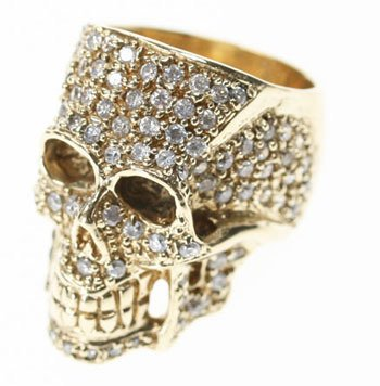 JKC Crystal Skull Ring