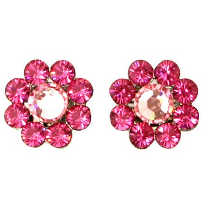 Tarina Tarantino Crystal Flower Earrings