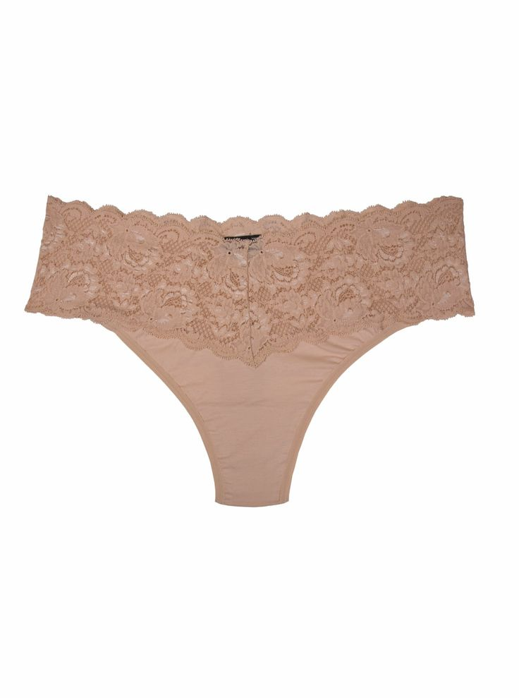 Cosabella Never Say Never Cotton Lovelie Thong in Blush