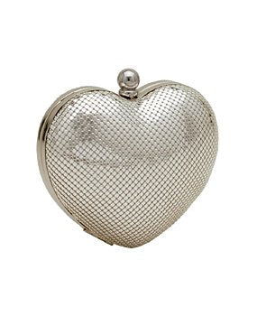 Heart Minaudiere Clutch | Purses | Whiting & Davis | 4sisters1closet