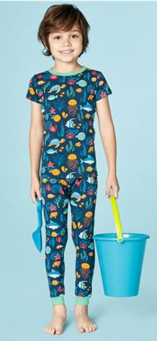 Bed Head Life Aquatic Kids Stretch Sort Sleeve Pajama Set