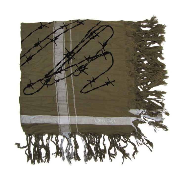 Leigh & Luca Barbed Wire MIlitary Scarf
