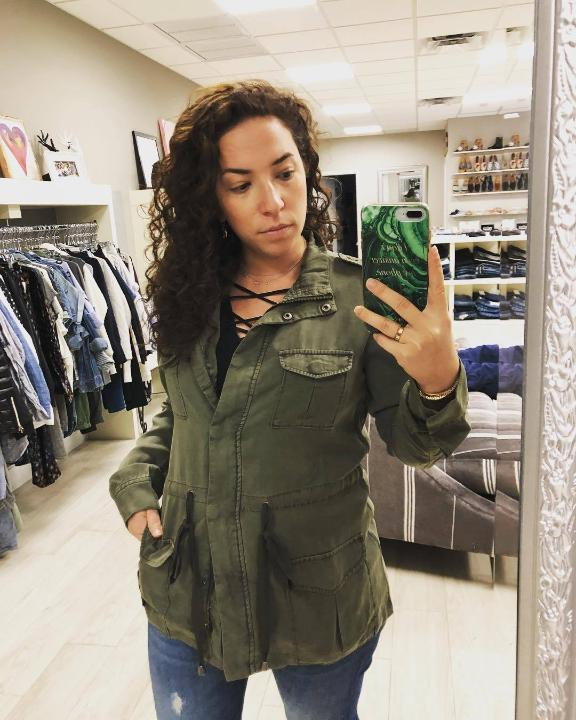 SEN Noble Jacket with Button Up Front in Olive
