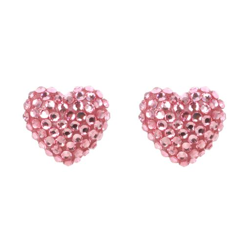 Tarina Tarantino Pave Heart Earrings