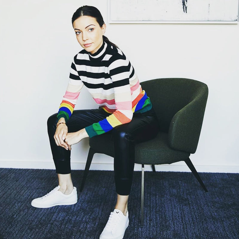 Sundays NYC Stewart Sweater Rainbow Multicolor
