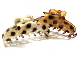French Atelier Pinch Clip Leopard