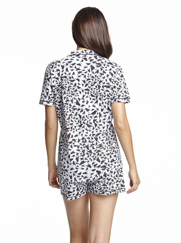 Cosabella Bella Print Shortsleeve Top & Short PJ Set