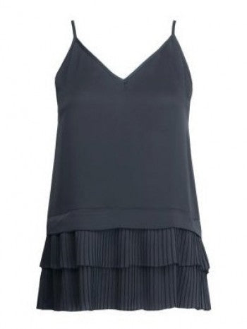 Waverly Grey Cami with Pleated Hem