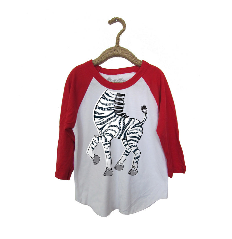 Peek-A-Zoo Zebra in  White/Red