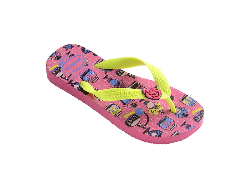 Havaianas Kids Fantasy Sandal in Shocking Pink