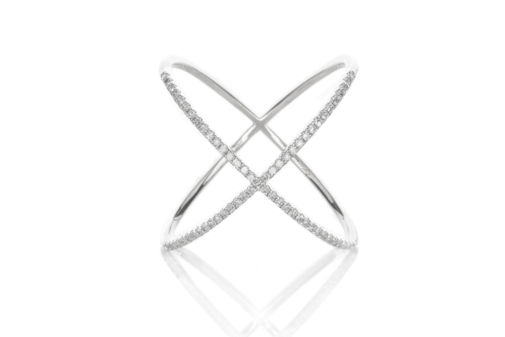 EF Collection Diamond X Ring
