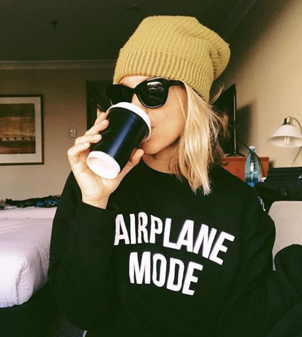 DEPARTURE Airplane Mode Crew Neck Sweatshirt