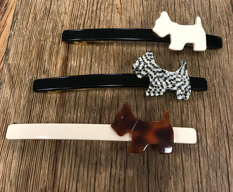 French Atelier Scotty Dog Barrette