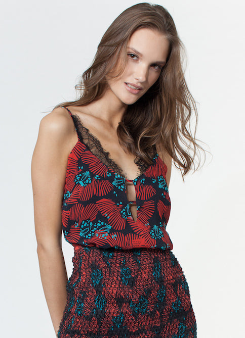 Karina Grimaldi Flora Print Cami Top in Butterfly | 4sisters1closet