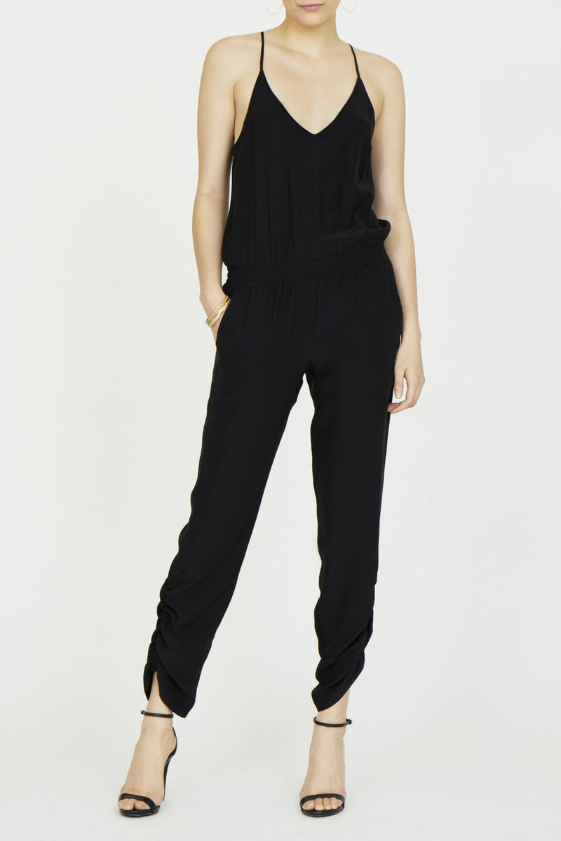 Amanda Uprichard Lowell Jumpsuit in Silk | 4sisters1closet