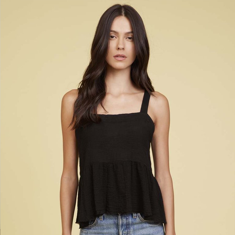 Nation LTD Giovana Tie Back Tank in Black | 4sisters1closet