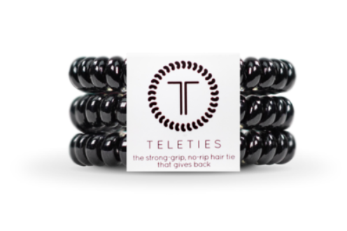 Teleties Strong-grip, No-rip Hair Tie That Gives Back! SMALL