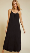 Nation Lila Scoop Trapeze Slip Dress in Black | 4sisters1closet