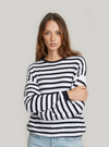 Autumn Cashmere Baby Sequin Striped Crew | 4sisters1closet