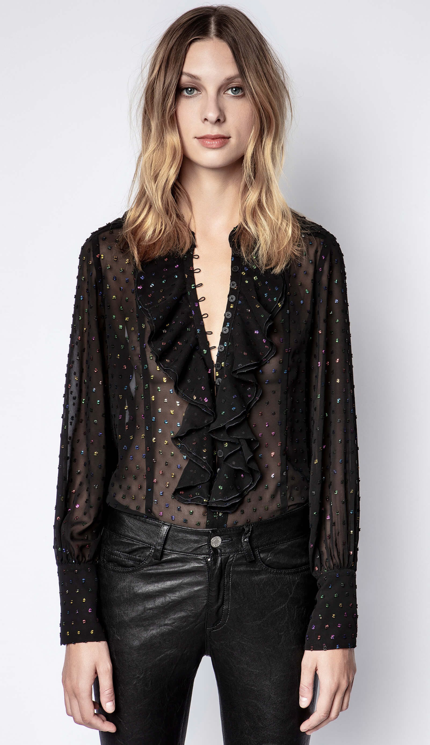 Zadig & Voltaire Twin Mousseline Top | 4sisters1closet
