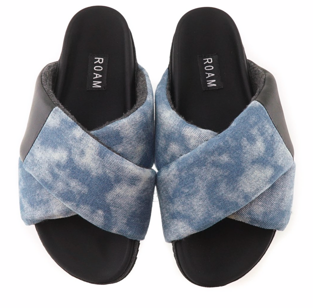 R0AM Shibori Cloud Wash Cross Sandal