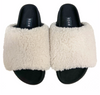 R0AM White Fuzzy Slippers | 4sisters1closet