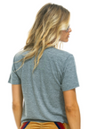 Aviator Nation Heather Grey Rainbow Boyfriend Tee | 4sisters1closet