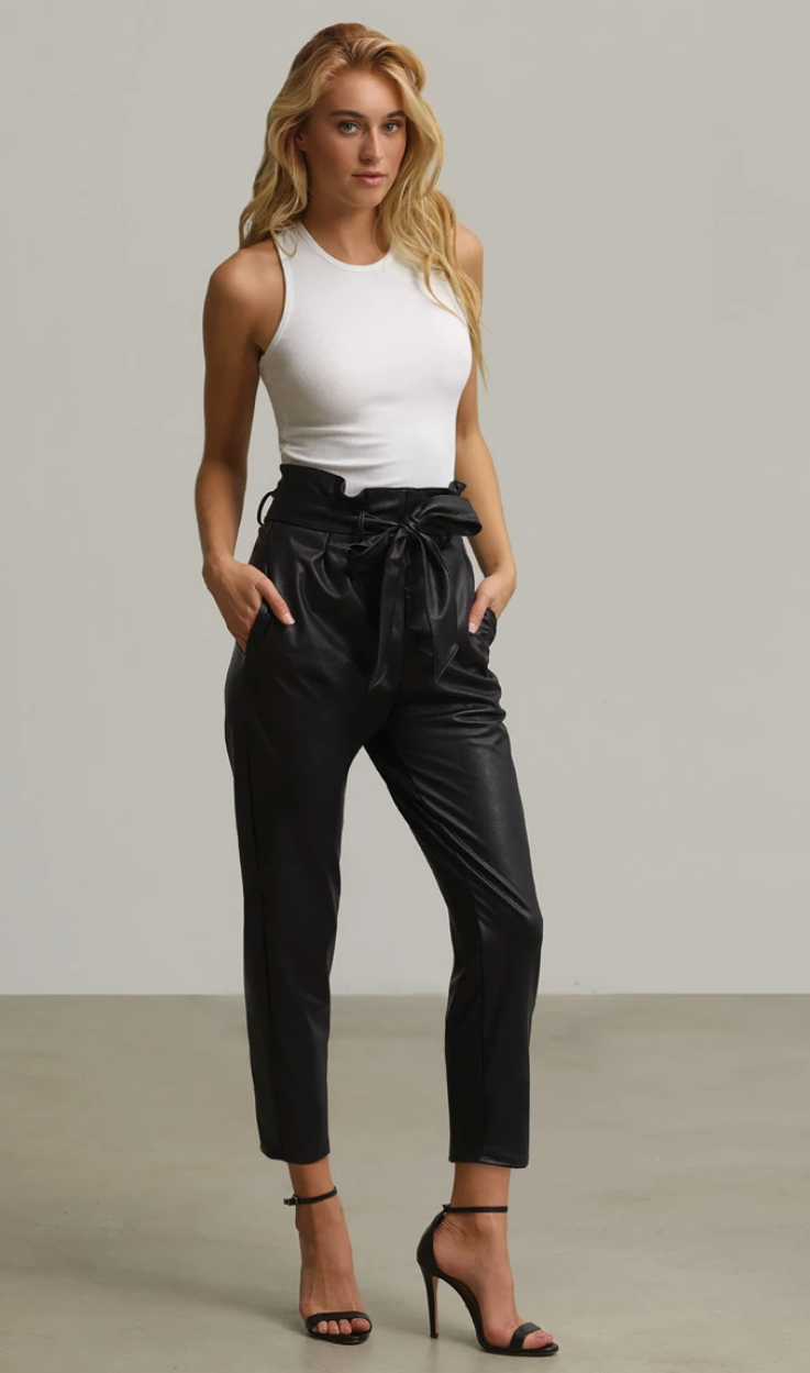 Commando Faux Leather Paperbag Pants | 4sisters1closet