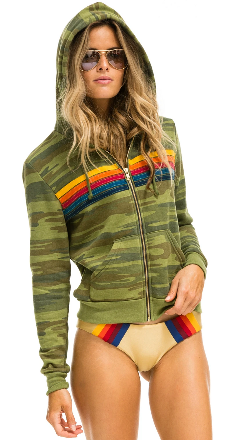 Aviator Nation 5 Stripe Camo Hoodie
