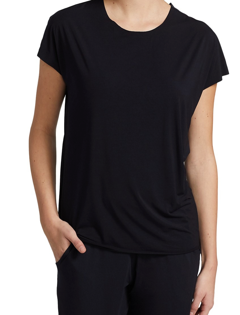 Commando Butter Oversized Tee in BLACK | 4sisters1closet