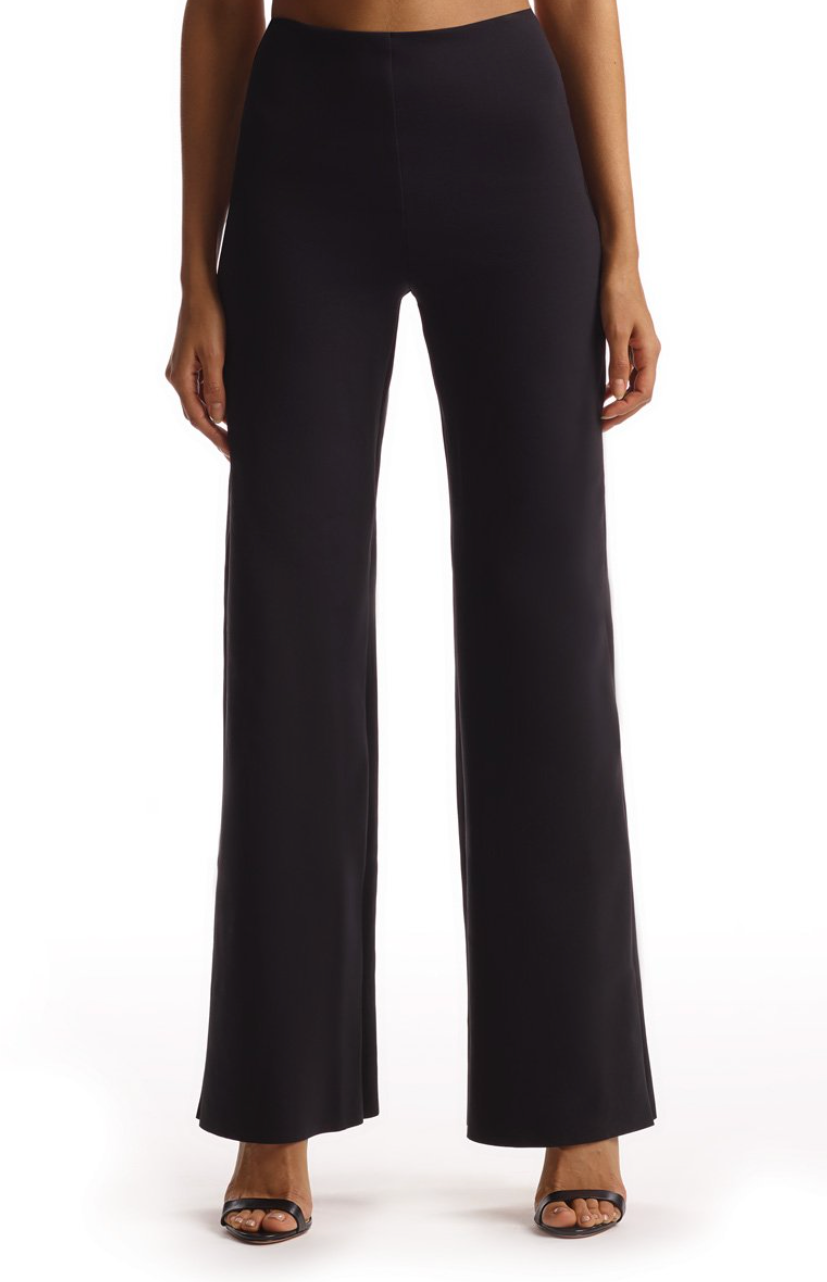 Commando Neoprene Wide Leg Pant in Black | 4sisters1closet