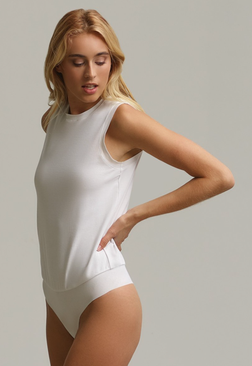 Commando Essential Cotton Muscle Bodysuit | 4sisters1closet