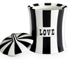 Jonathan Adler Love Canister in Black & White