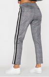 Pam & Gela Glen Plaid Cropped Track Pant with Side Stripe | 4sisters1closet