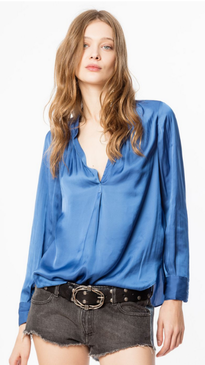 Zadig & Voltaire Tunique Tink Satin Blouse | 4sisters1closet