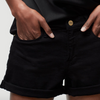 Frame Le Cut Cuffed Short in Noir | 4sisters1closet