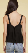 Nation LTD GiovanaTie Back Tank in Black | 4sisters1closet