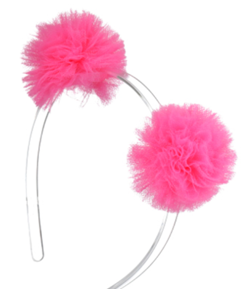 lilies & roses Pompom Headband in Neon Pink | 4sisters1closet