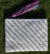 Weekend Wayfar Silver Stripes Clutch | 4sisters1closet