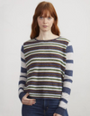 Autumn Cashmere Stripe Block Crew in Multi | 4sisters1closet