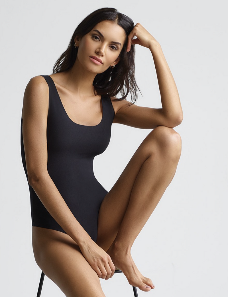 Commando Butter Tank Bodysuit in Black | 4sisters1closet
