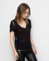 Zadig & Voltaire Tino Gold T-Shirt | 4sisters1closet