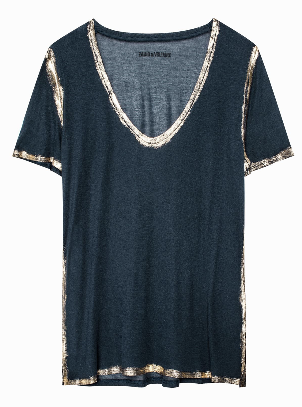 "Zadig & Voltaire ""FOILS""Tino Gold T-Shirt"