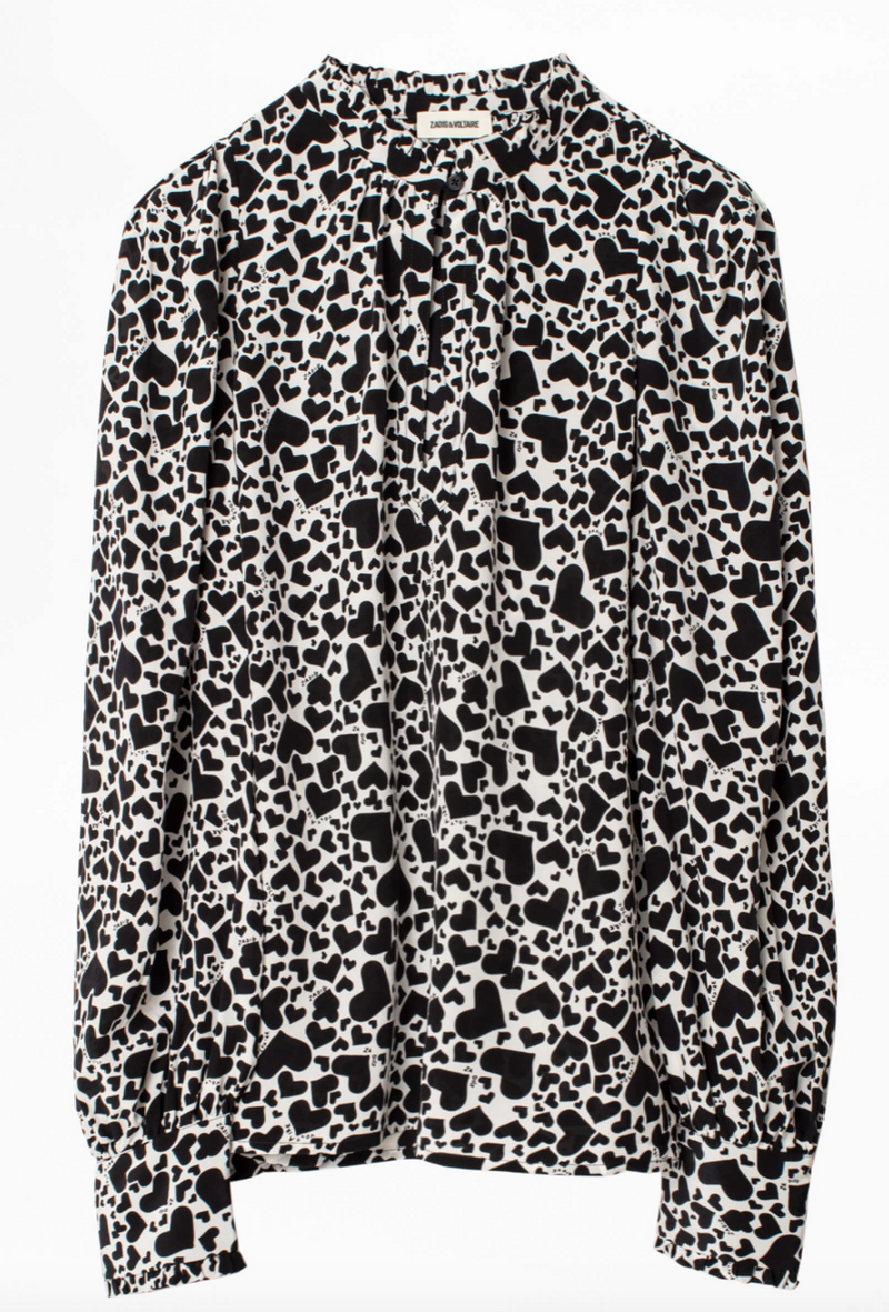 Zadig & Voltaire Titus Print Coeur Tunic | 4sisters1closet