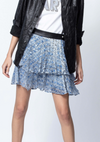 Zadig & Voltaire Jim Burnout Velvet Skirt | 4sisters1closet